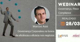 Webinars: Governança Corporativa na busca da eficiência e eficácia nos negócios.