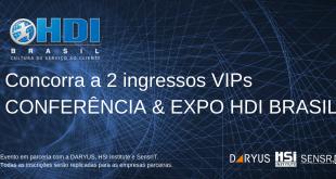 Regulamento do Sorteio de 2 ingressos VIP's para a CONFERÊNCIA & EXPO HDI BRASIL 2019